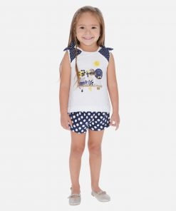 Mayoral Σετ μπλούζα και σορτς πουά κορίτσι 20-03292-091