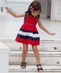 Mayoral Φόρεμα συνδυασμένο λωρίδες κορίτσι 20-03939-035