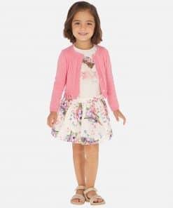Mayoral Σετ μπλούζα και φούστα κοντή λουλούδια κορίτσι 20-03963-064