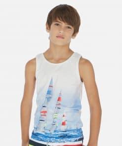 Mayoral Σετ μπλούζες κοντομάνικες σχέδια αγόρι 20-06072-072