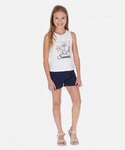 Mayoral Σετ μπλούζα σανδάλια και σορτς κορίτσι 20-06264-044