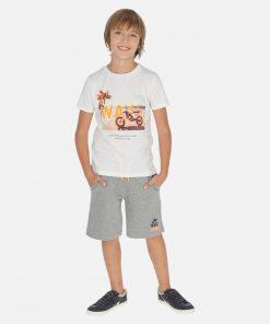 Mayoral Σετ μπλούζα σχέδιο και βερμούδα αγόρι 20-06612-038