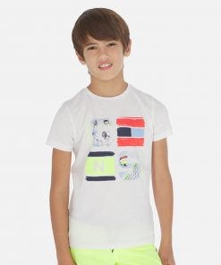 Mayoral Σετ μπλούζα print και βερμούδα αγόρι 20-06614-053