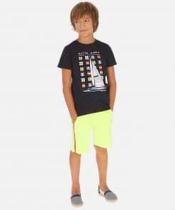 Mayoral Σετ μπλούζα ιστιοφόρο και βερμούδα αγόρι 20-06615-067