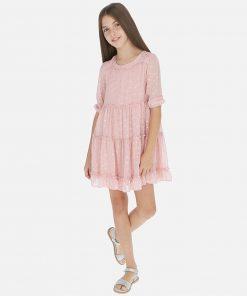Mayoral Φόρεμα γάζα πουά κορίτσι 20-06968-010