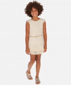 Mayoral Φόρεμα γάζα πιέτες κορίτσι 20-06970-002