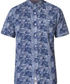 Ανδρικό Πουκάμισο Duke Sheldon Hawaiian φύλλο τύπωμα κοντό μανίκι