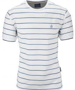 Ανδρικό T-shirt Μπλουζάκι Ριγέ Στρόγγυλη Λαιμόκοψη Beneto Maretti