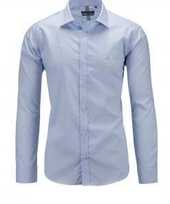 Βαμβακερό πουκάμισο ζακάρ ημι-ρεξ γιακά Beneto Maretti