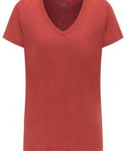 Γυναικεία Μπλούζα Lee V NECK TEE RED OCHRE L41JENOE