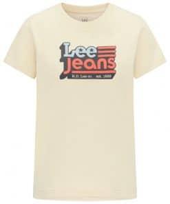 Γυναικεία Μπλούζα Lee CREW NECK TEE BLEACHED SAND L41LYGOC