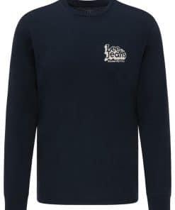 Ανδρική Μπλούζα Lee LS 70S LOGO TEE SKY CAPTAIN L62OFQHY