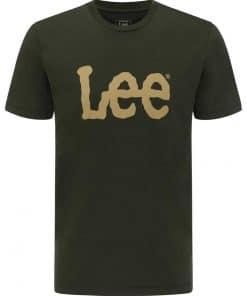 Ανδρική Μπλούζα Lee WOBBLY LOGO TEE SERPICO GREEN L65QAIOJ