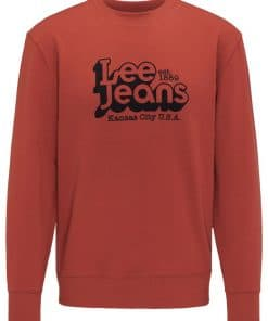 Ανδρική Μπλούζα Lee 70S LOGO SWS RED OCHRE L80BTJOE