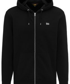 Ανδρική Μπλούζα Lee BASIC ZIP THROUH HOO BLACK L80KSP01