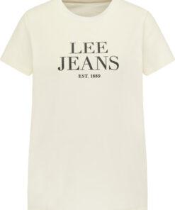 Γυναικεία Μπλούζα Lee GRAPHIC TEE WHITE CANVAS L41UFERR