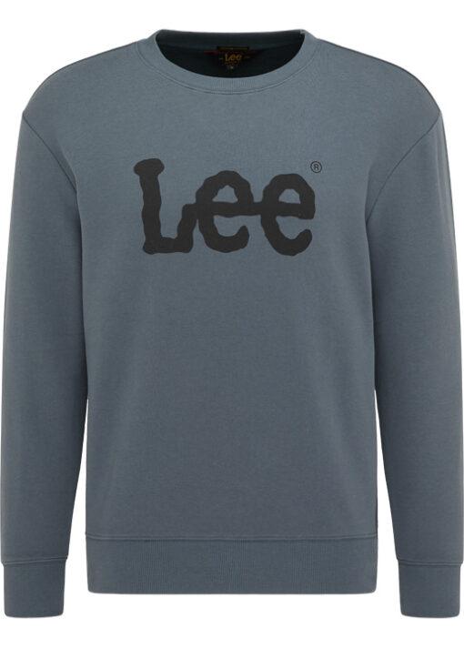 Ανδρική Μπλούζα Lee BASIC CREW LOGO SWS DARK SLATE L80XTJTG